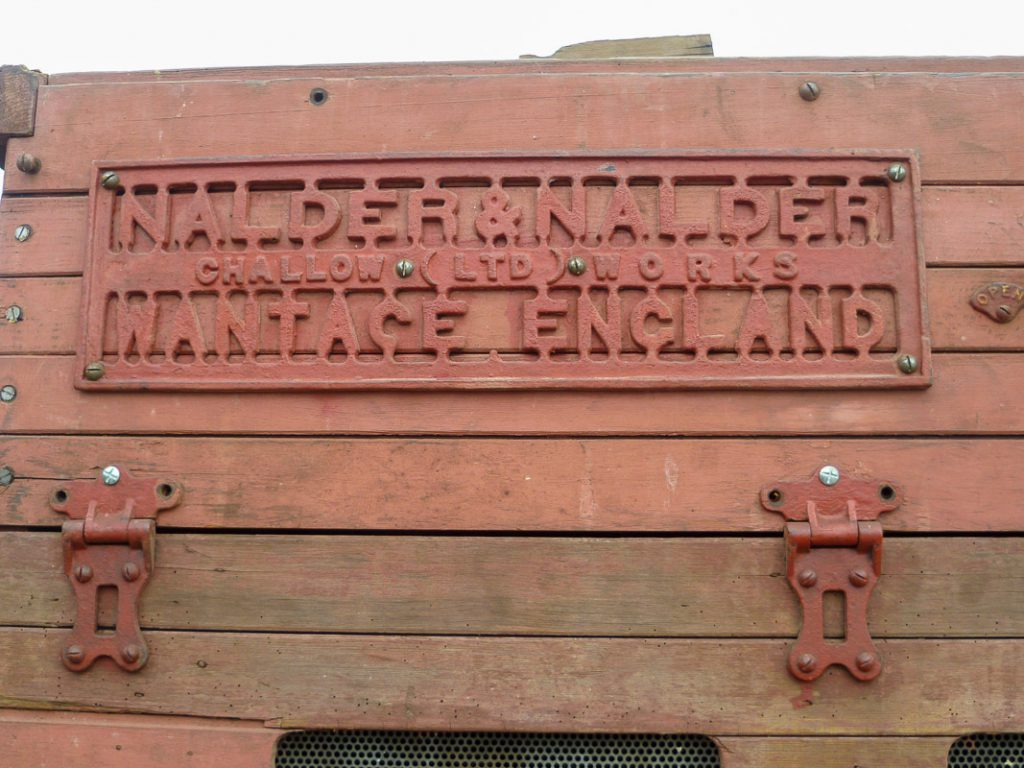 Nalder and Nalder Treshing Box Company Nameplate.