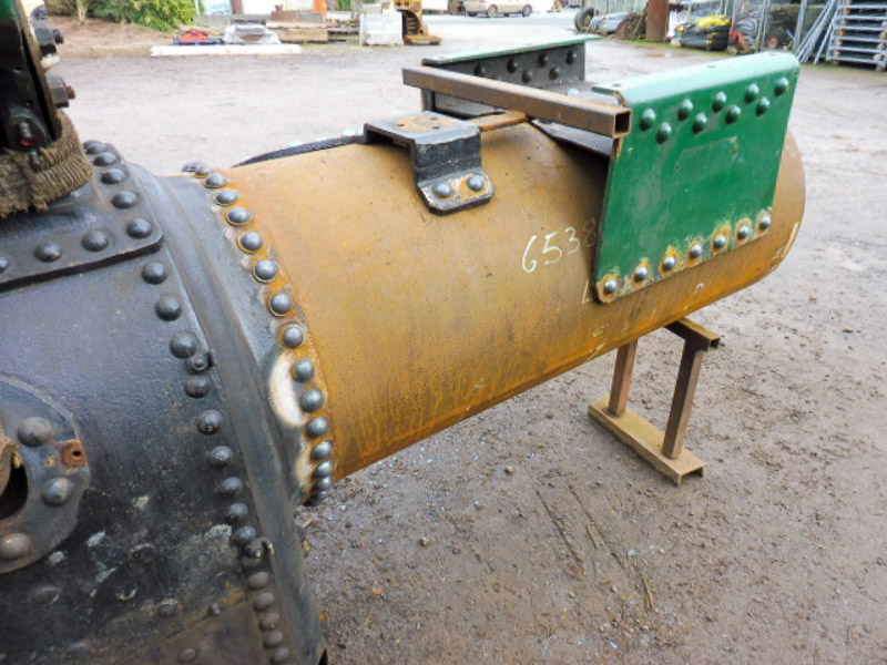 2 1/2hp Clayton. This engine received a new firebox several years ago but now requires a new barrel and tubeplate.