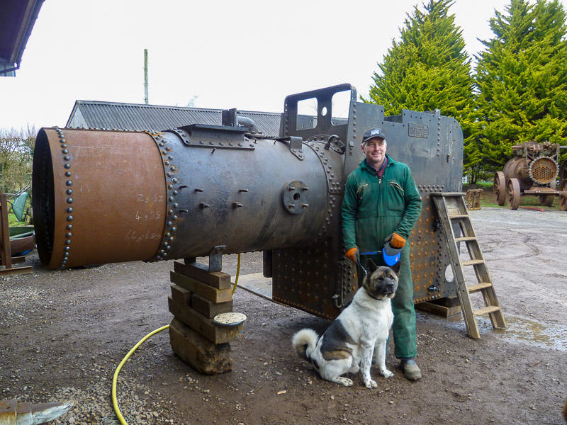 Ransomes direct ploughing engine boiler work complete.