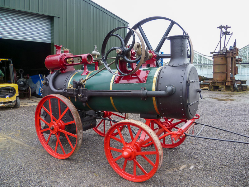 This is a Brown and May portable engine which has had all the boiler work carried out including new firebox, motion machined as required, re-lagged, painted and now lined out to the original Brown and May colour and detail.