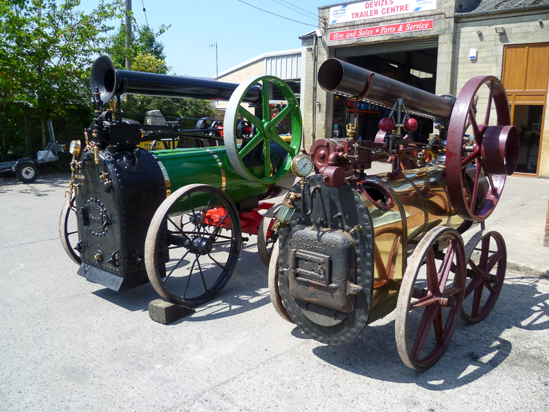 The two oldest Brown and May portable steam engines, dating from 1860