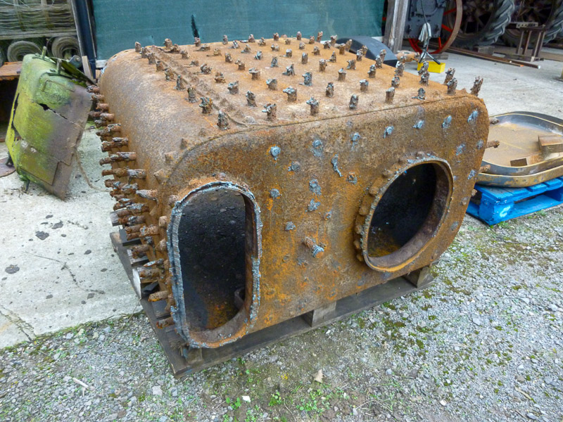The old firebox assembly.
