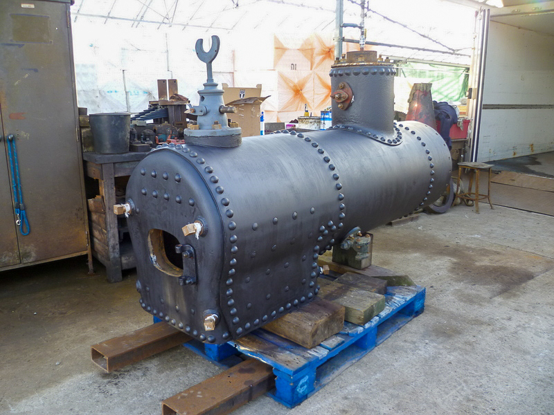 2' gauge loco we have had in the boiler shop. Viewed from Firebox End.